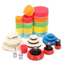 29 Uds depilación almohadilla de esponja de pulido de placa de soporte de abrillantado para coche herramienta para pulidor máquina de pulir de lavado