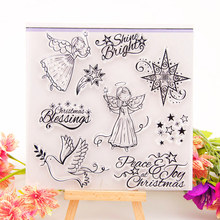 Fairy Angel Clear Stamps for DIY Scrapbooking Card Silicon Christmas Transparent Stamps Making Album paper Craft Decor New Stamp lovly cartoon bear design silicon stamps scrapbooking stamp for kids diy paper card wedding gift christmas gift poto albumcl 032