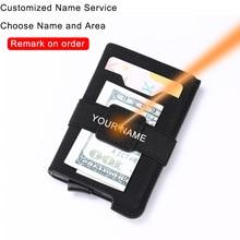 DIENQI Customize Rfid Card Holder Wallets Mens Fashion Engra