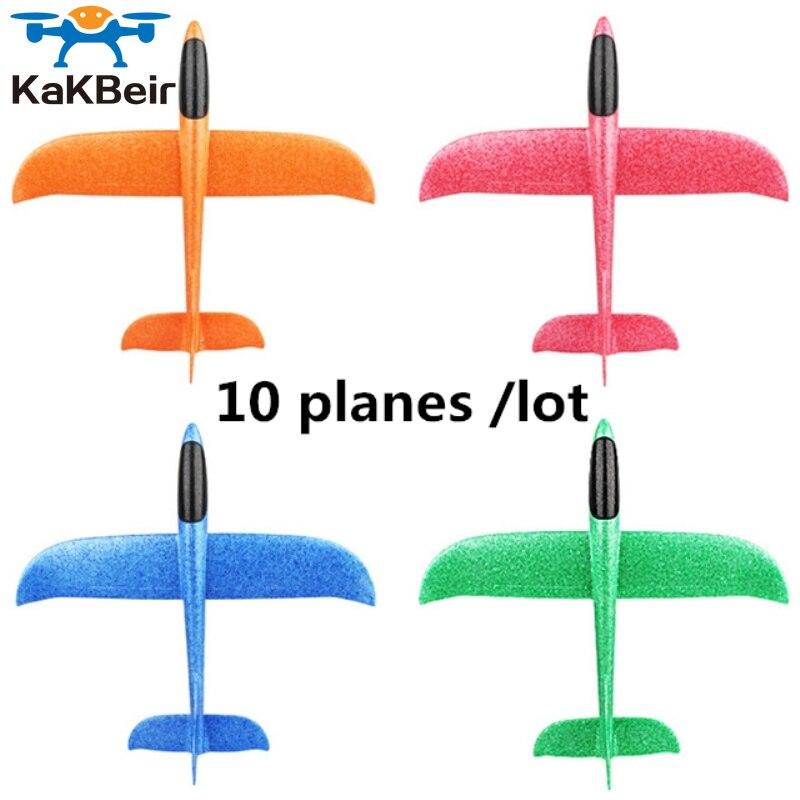 KaKBeir EPP пенопластовый самолёт, запускаемый вручную Планер для улицы, самолет, Детская Подарочная игрушка 48 см, интересные игрушки, 10 шт./лот, б...