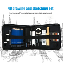 48-piece Professional Sketching Pencil Set Beginner Sketching Tool Art Drawing Sketching Pen Set Painting For Student Artist