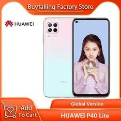 100% Version mondiale originale HUAWEI P40 Lite 6.4 pouces 6GB 128GB Kirin 810 Octa Core 64MP Quad AI caméra