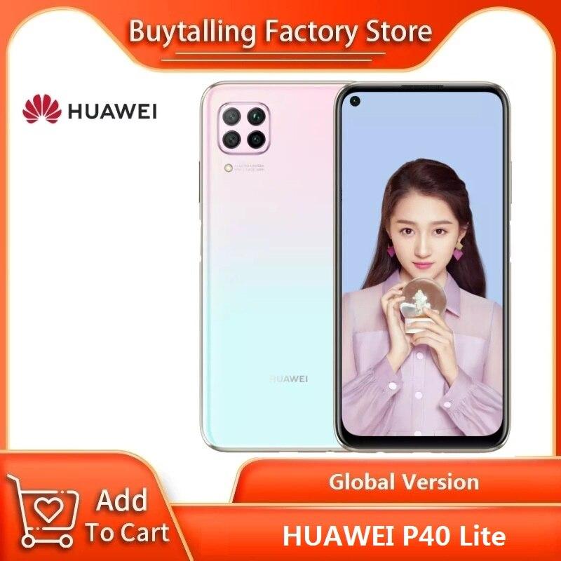 100% ursprüngliche Globale Version HUAWEI P40 Lite 6,4 zoll 6GB 128GB Kirin 810 Octa Core 64MP Quad AI kamera