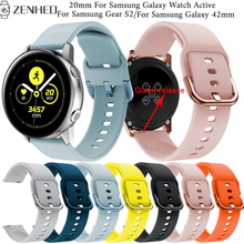 20mm Quick release band for Samsung Galaxy Watch Active strap smatr watch band For Samsung Gear S2 /Galaxy 42mm replace bracelet laforuta nylon band for samsung galaxy watch active band galaxy 42mm strap classic s2 sport 20mm quick release watch band