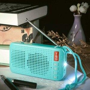 Image 4 - محمول راديو FM مصغرة الشمسية بلوتوث 5.0 المتكلم مع مصباح ليد جيب دعم يدوي TF بطاقة U القرص مشغل MP3