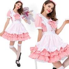 Розовый наряд для костюмированной вечеринки в стиле «лолита»