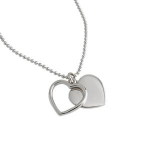 Image 3 - LouLeur 925 Sterling Silver podwójny naszyjnik w kształcie serca ins stylowe złoty wisiorek romantyczny naszyjnik dla kobiet moda elegancka biżuteria na prezent