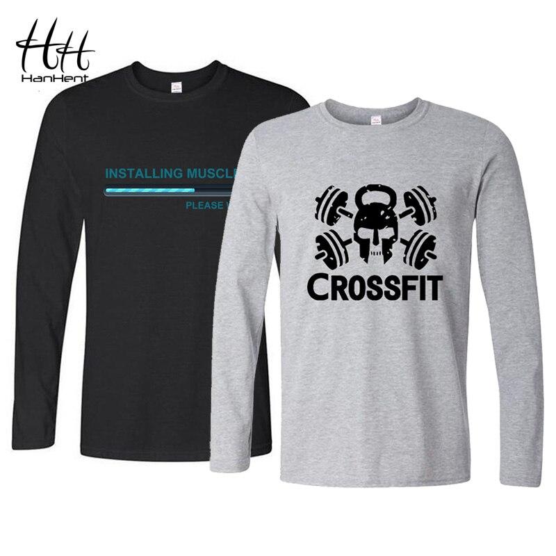 Hanhent design engraçado t camisa masculina musculação manga comprida t camisa completa casual algodão topos camisa hombre manga larga