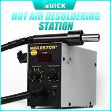 Schnell 857DW + Hot Air Gun mit Heizung BGA Rework Station SMD Rework Löten Station 580W Bleifrei heiße luft Löten Station