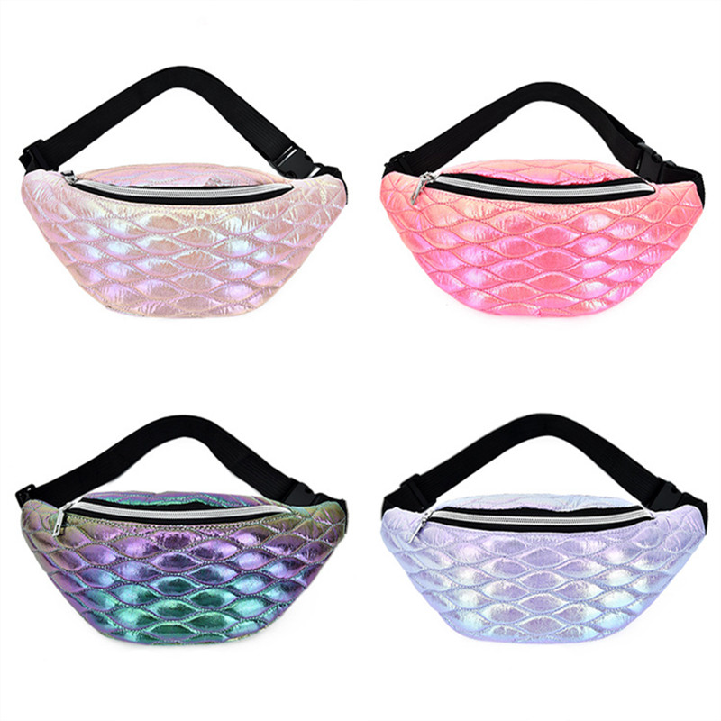 Women's Waist Bag Chest Bag Fashion Laser Shoulder Messenger Bag Female Large Capacity Mobile Phone Bag