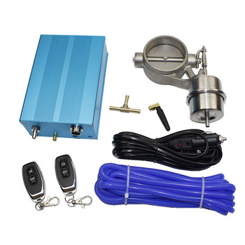 """car Accessories Exhaust pipe retrofit pneumatic valve 2 """"/2.25"""" /2.5 """"/2.75"""" / 3 """"exhaust stop valve with electric control box 1"""