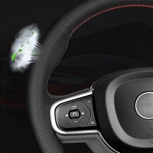 Image 5 - Manevra siyah hakiki deri direksiyon kapakları Suzuki Grand Vitara 2007 2013 için