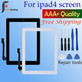 1 шт., сенсорный экран для Apple iPad 4, дигитайзер и кнопка Home, переднее стекло, сенсорная панель, A1458, A1459, A1460 с инструментами