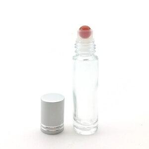 Image 2 - 10 adet doğal taş silindir topu 10ml uçucu yağ rulo kalın cam şişe kristal cips şişe
