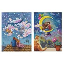 Lovers patterns counted cross stitch 11ct 14ct 18ct diy wholesale