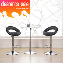 CLEARANCE SALE 2pcs/set European Trendy Gas Liftable Bar Stool Moon Bay Soft Design Swivel Rotating Bar Chairs Bar Furniture HWC(China)