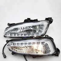 2Pcs LED DRL Tagfahrlicht Nebel Lampe Für Hyundai IX45 Für Santa Fe Durable Tagfahrlicht Lampe-in Reflektierendes Material aus Sicherheit und Schutz bei