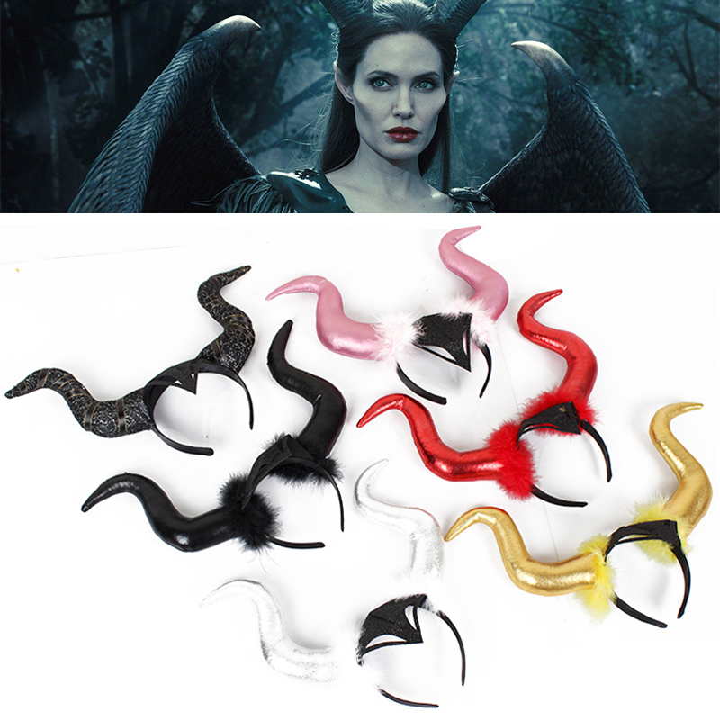 Maleficent Mistress Of Evil Maleficent Cosplay Simple Version Card Issue Headwear Halloween Party Close Headband