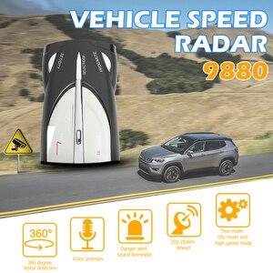 Image 1 - VODOOL Car Radar Detector English Russian Voice Warning Alarm Alert Digital tube display Car Anti Radar Detector X K Band