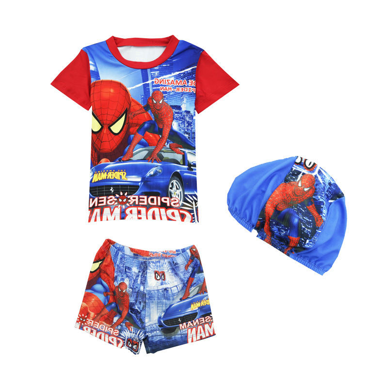 CHILDREN'S Swimsuit 2019 New Style Spider BOY'S Swimsuit Children Cartoon Europe And America KID'S Swimwear 32802