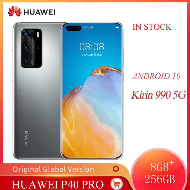 Global Huawei P40 Pro 5G Mobile Phone 6.58 Inches OLED Screen 8GB +256 GB Smart Phone 50MP +32MP 4200mAh Kirin 990 Android 10