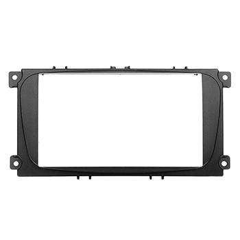 2 Din Car DVD Radio Frame for Ford Focus II C-Max S-Max Fusion Stereo Panel Dash Mount Double Din Fascia Install Kit Refit Frame автомобильный dvd плеер isudar 2 din 7 dvd ford mondeo s max focus 2 2008 2011 3g gps bt tv 1080p ipod