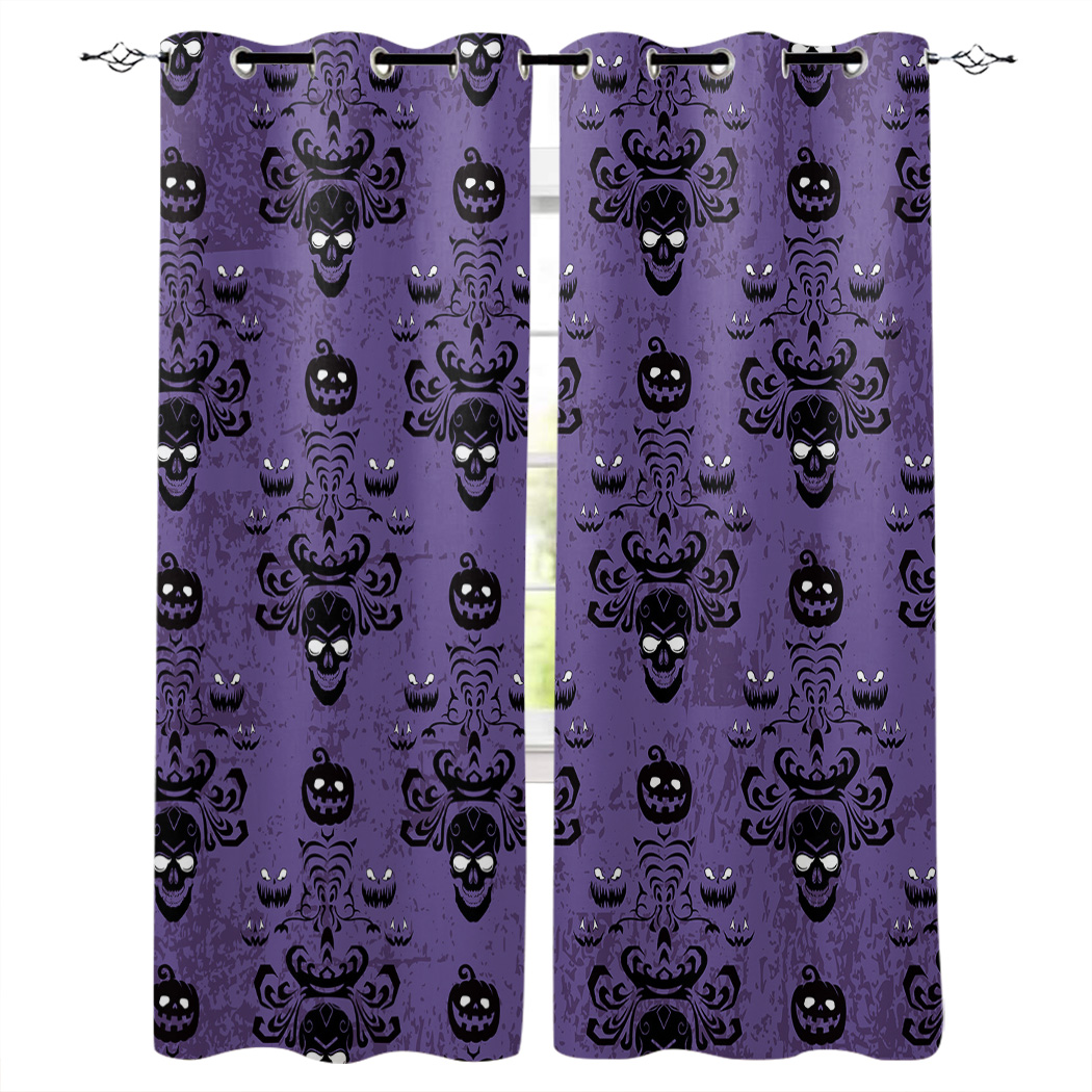Kitchen Curtains Halloween Pumpkin Ghost Skull Window Curtains Living Room Bedroom Decor Items Curtains For Bedroom Curtains Aliexpress