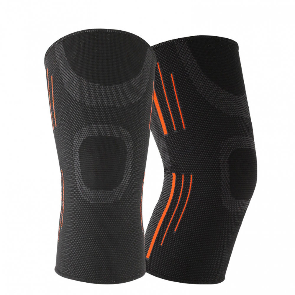 Solid Black Red Blue Knee Protector Men Women Sports Men Pressurized Support Fitness Gear Basketball Volleyball Brace Protector
