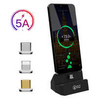 SIKAI Магнитная зарядная док-станция для iPhone/Micro USB/Type C держатель телефона 5А магнитное зарядное устройство для iPhone 11 pro huawei mate 30 pro