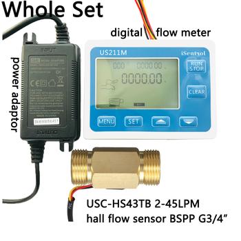 US211M cyfrowy miernik przepływu Totalizer z mosiądzu czujnik przepływu USC-HS43TB G3 4 #8222 czujnik przepływu 2-45LPM iSentrol Saier Sesnor chiny tanie i dobre opinie Ultisolar CN (pochodzenie) Hydraulika US211M-USC-HS43TB Mężczyzna BSPP Gwint 3 4