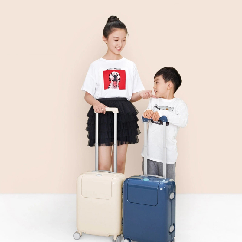 17 Inch Suitcase 26L Luggage Waterproof Camping Travel Trolley Case With DIY Sticker Kawaii Makrolon Child Travel Luggage in Rolling Luggage from Luggage Bags