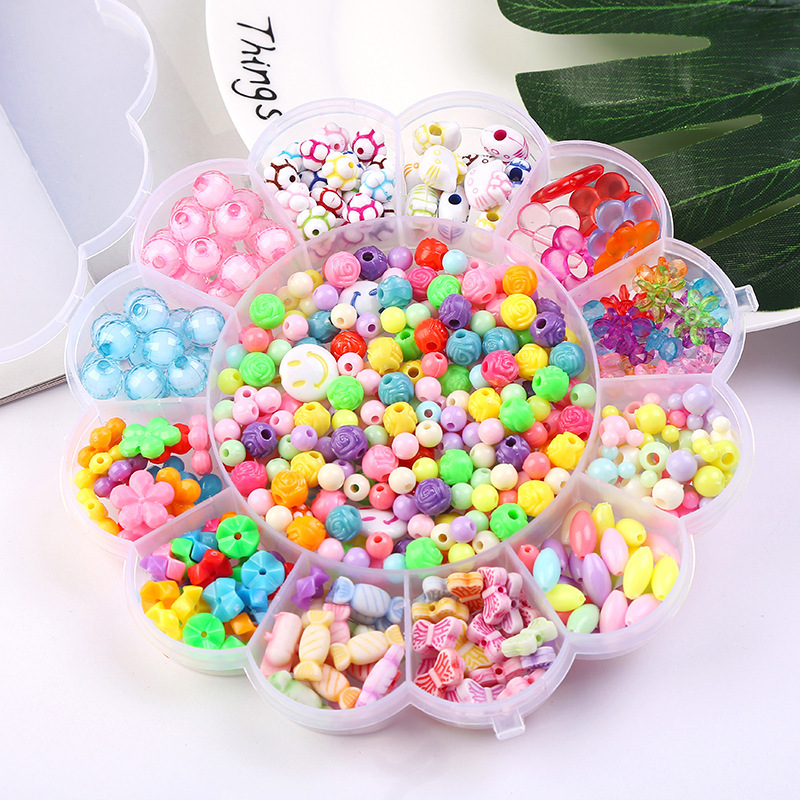 Sunflower The Fancy Beaded Toy Wear Beads Are Colorful Diy Manual Suit Girl Stringing Beads