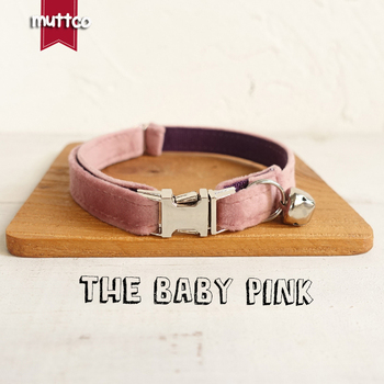10pcs/lot MUTTCO Adjustable cat collar THE BABY PINK handmade pet products 2 sizes metal buckle double cloth cat collar UCC080
