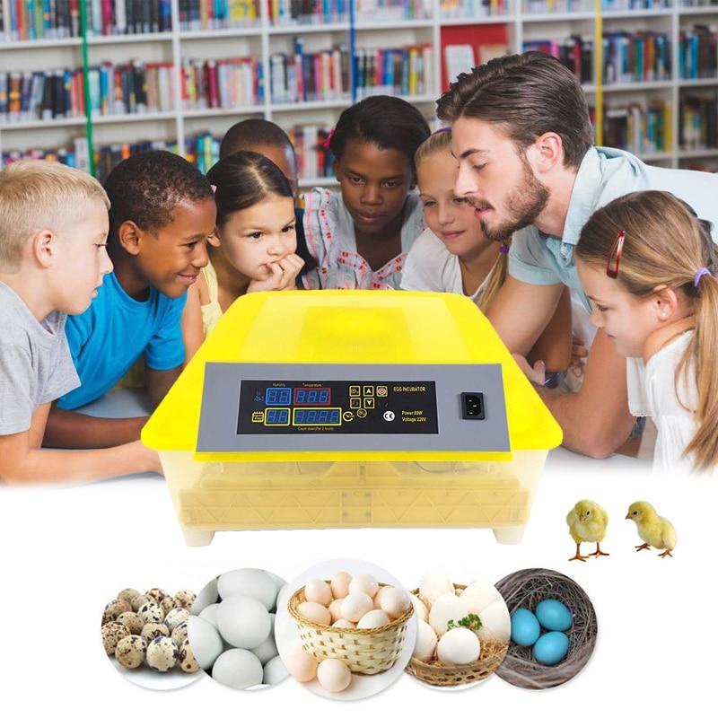 48 инкубатор для яиц цифровой полностью автоматический мини инкубатор для яиц токарная машина