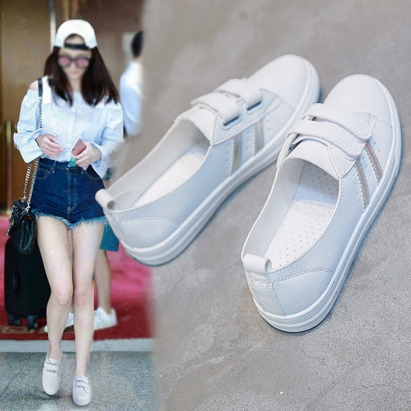 Canvas Shoes CHIC Korean-Style White Students Summer Versatile INS title=