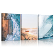 Океан пляж Холст Картина Пейзаж Скандинавское настенное Искусство