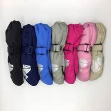 Детские зимние теплые перчатки для мальчиков и девочек с геометрическим