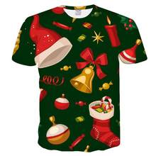 Men and women Christmas T-shirt snowman print round neck T-shirt Topstee shirt women Noel Christmas clothes men's clothing(China)