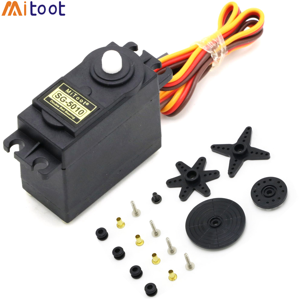 Mitoot Steering Gear SG5010 3KG 5KG High Torque Digital Motor Steering Gear For Car Boat Model