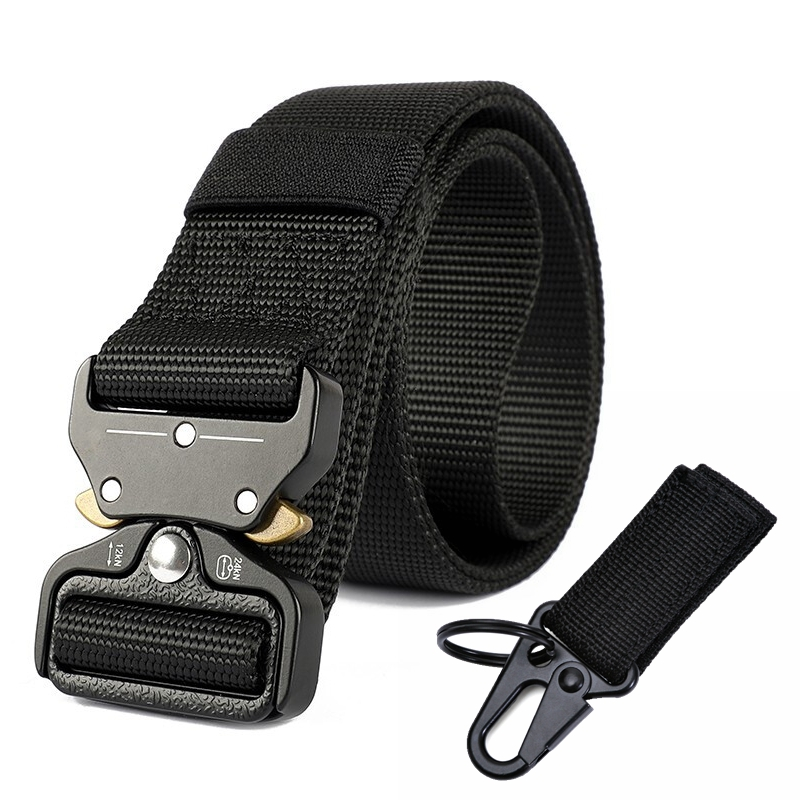 Outdoor Tactical Belt Army Nylon Waist Band Metal Buckle Police Duty Heavy Training Hunting Mens Military Style Jeans Long Belts