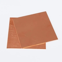 цена на 2pcs 1x50x50mm New 99.9% Pure Copper Cu Metal Sheet Plate Foil Panel Customized Strip Gold Film Wire Jewelry Making DIY