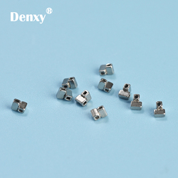 Denxy-50pcs Dental Crimpable Cross Tube Ortho stops Orthodontic Crimpable Hooks Orthodontic Split stops Orthodontic bracket