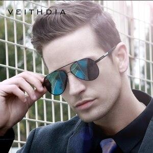 Image 5 - Veithdia óculos de sol masculino polarizado, óculos de sol masculino fotocrômico, de alumínio e magnésio, polarizado uv400 6699