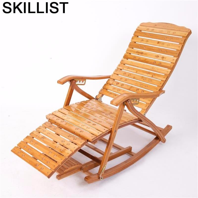 Chaise Bureau Dormir Rocking Cama Plegable Bamboo Sillones Moderno Para Sala Sillon Reclinable Folding Bed Recliner Chair