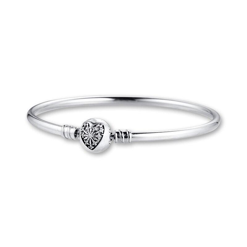 LOt Bangles Bracelets Female Popular Round Accessories Bracelet Fashion 925 Sterling Silver Classic Bracelet