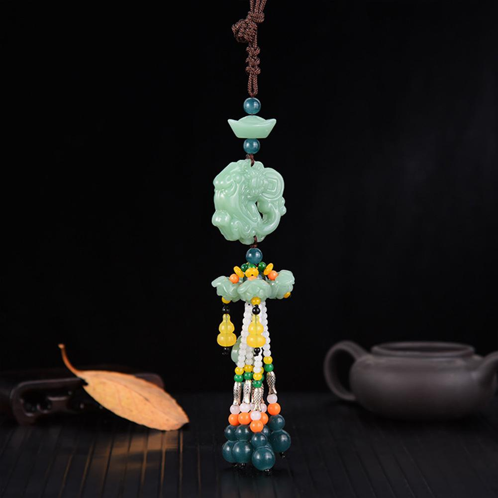 Image 3 - Car Pendant Jade Gourd Auto Hanging Ornaments Originality Blessing Decoration Rearview Mirror Car Interior Accessories-in Ornaments from Automobiles & Motorcycles