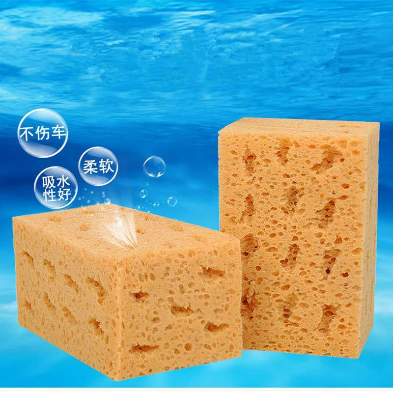 Car Wash Sponge Extra Large Cleaning Honeycomb Coral Car Yellow Thick Sponge Block Car Supplies Auto Wash Tools Absorbent 1pcs