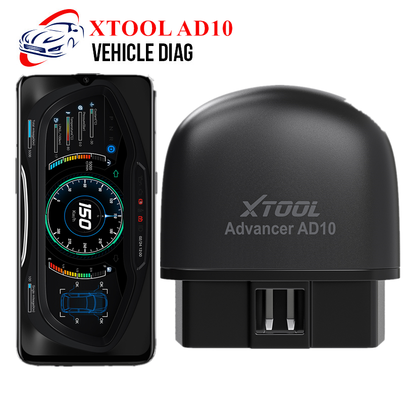 XTOOL AD10 Bluetooth OBD2 Scanner Diagnostic Code Reader HUD Display Car Better Than ELM327 Work With Android For 12V Cars