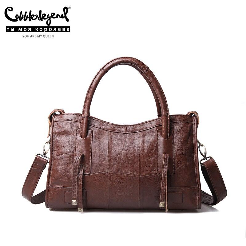 Cordonnier Legend Original en cuir véritable femmes sacs à bandoulière 2019 nouvelle tendance de loisirs dames sac à bandoulière pour les femmes sac à main - 2