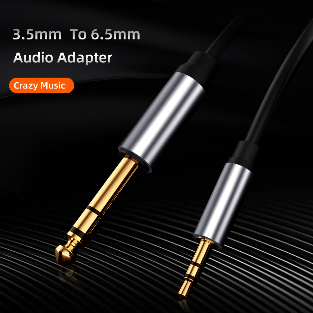 3.5mm Jack Audio Cable 6.5mm Male to 3.5 Male Audio Adapter Headset Connector Microphone Guitar Extension Cable 3.5mm Converter